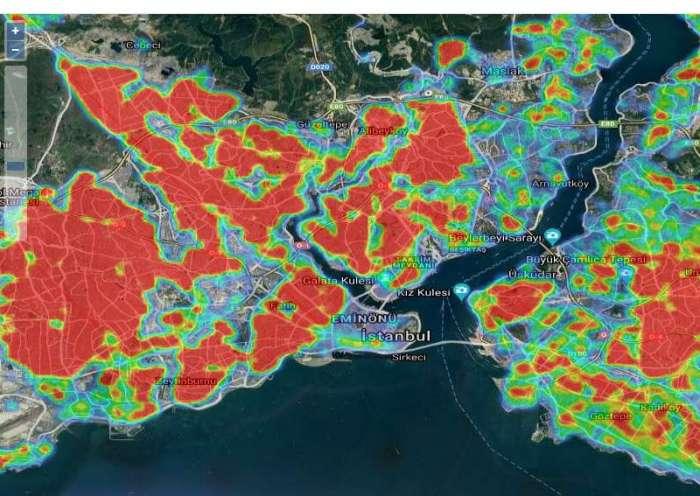 korona virüs yoğunluk haritası